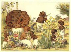 """Signe Aspelin (Swedish, 1881-1961). Illustration from """"Småttingarnas svampbok."""""""