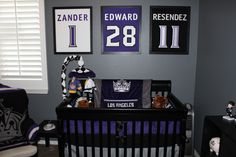 Hockey nursery.. no lie I would absolutely do this!