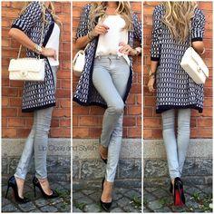 Yesterday - #Missoni cardigan, #Wink tank top, #JBrand jeans, #LouboutinPigalle120mm and medium #Chanel #FlapBag. (8 June 2015)