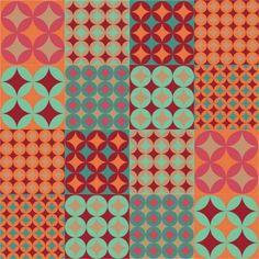 Papel de Parede Adesivo Vintage 50x1040cm Laranja Dona Cereja Origami, Background Tile, Gaudi, Ems, Pin Up, Paper Crafts, Texture, Vintage, Wallpaper