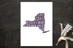 State Stamp- New York Save the Date Cards by Fig and Cotton Paperie at minted.com
