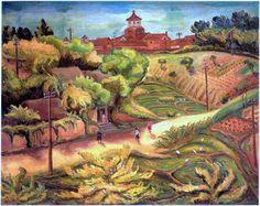 陳澄波 〈岡〉 1936 畫布油彩 91x116.5 第十回台灣美術展 圖版出處/財團法人陳澄波文化基金會提供