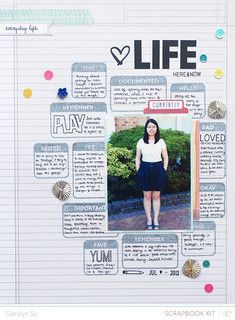 #papercraft #scrapbook #layout Life by qingmei at @Studio_Calico