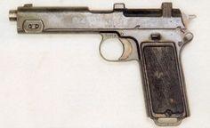 Pistolet automatique Glissenti modello 1910 Le Glissenti modello 1910 souffrait…