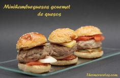 Mini hamburguesas gourmet de queso - http://www.thermorecetas.com/2013/11/23/mini-hamburguesas-gourmet-de-queso/