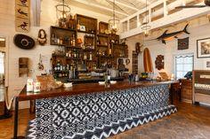 The bar at The Bungalow at the Fairmont Santa Monica. We love a pretty bar!