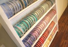 Ribbon Storage - this is what I need! You don't have to take all of the spools off to get the one you need