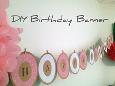 DIY birthday banner - use orange and brown paper