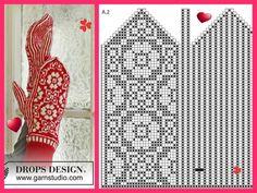 "Вязание. Варежки с жаккардом - ""Зимняя радуга"" Knitting Charts, Knitting Stitches, Knitting Patterns Free, Crochet Patterns, Knitted Mittens Pattern, Knit Mittens, Knitting Socks, Photo Stitch, Knit Art"