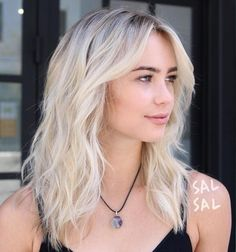 Wavy Blonde Shag Hairstyle