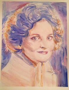 #LaurenArt #Portrait #watercolor #painting #art