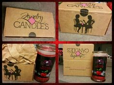 Special delivery! This is how you will receive the product. The box is great to store tarts, candle not being used & other things.   www.jewelryincandles.com/store/gmperezgonza-candles
