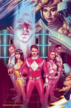 Mighty Morphin Power Rangers variant cover #19 by StevenJamesMorris