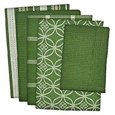 DII Cotton Oversized Kitchen Dish Towels 18 x and Dishcloth 13 x Set of 5 , Absorbent Washing Drying Dishtowels for Everyday Cooking and Baking-Sage Kitchen Dishes, Kitchen Towels, Kitchen Decor, Kitchen Gadgets, Kitchen Design, Kitchen Words, Table Accessories, Green Kitchen Accessories, Vintage Recipes