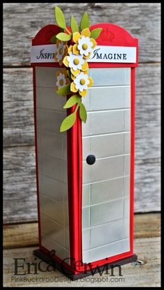 Flower Phone Booth! http://pinkbuckaroodesigns.blogspot.com/2014/03/flower-phone-booth.html