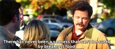 Ron Swanson... Most true sentence. thought I would cry more in this episode but it was this moment that hit me :'(