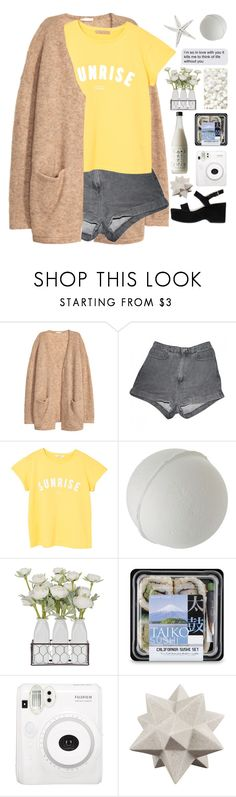 """summer sunrise"" by katykitty5397 ❤ liked on Polyvore featuring H&M, American Apparel, MANGO, Fuji, Moe's Home Collection and Marc Jacobs"