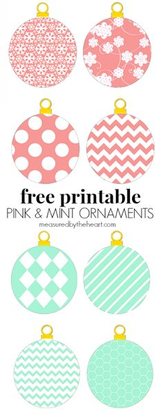 Free Printable Pastel Ornaments by Measured by the Heart (pick from 24!)