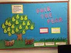 Pair the Pear- Interactive bulletin board about homophones