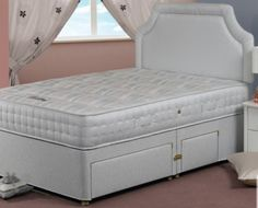 Sweet Dreams Laila Ortho Mattress - 1000 firm pocketed springs in a King size mattress, with hand tufted materials and Orthobond Filling.