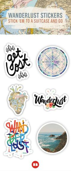 Set yourself free. Find beautiful wanderlust-inspired stickers to decorate your life on http://Redbubble.com. Pack up and go on your dream vacation, or let these stickers take you there.