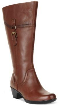 clarks wide width wide calf boots