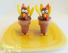 Tootsie Turkey Cupcake Cones