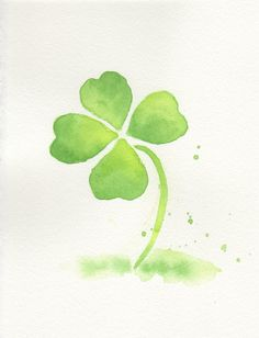 Green leaf original watercolor painting by ChiFungW on Etsy, $37.00