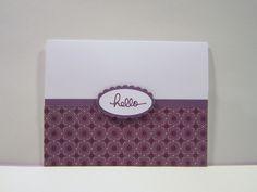 "Endless Birthday Wishes ""hello"" Stamp Set Whisper White Perfect Plum Pocketful of Posies Designer Series Paper Blackberry Bliss Ink"