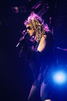 """Madonna performs at MSG for the first time as part of her """"Virgin"""" tour, June 10, 1985."""