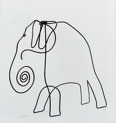 Or how about Calder's Elephant, from the late 1920s? It has an almost cave painting-like quality in its exaggerated form and stark, simple lines.