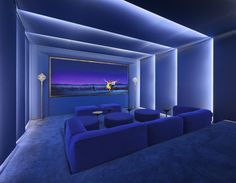 Home Theater Room Design, Home Theater Lighting, Home Cinema Room, Home Theater Rooms, Home Theater Seating, Home Theatre, Theater Seats, Media Room Seating, Media Room Design