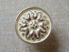 $35 for 12 12x Flower Dresser Knobs Drawer Knob Cabinet Door Handles Creamy White Silver | eBay