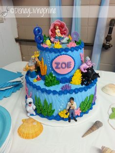 Little Mermaid Cake & Fabulous Party Ideas, food & decorations. From the Disney Inspiration Blog