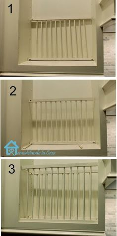 Remodelando la Casa DIY - Inside Cabinet Plate Rack & Cabinet Facelift | Plate racks Snug and Face