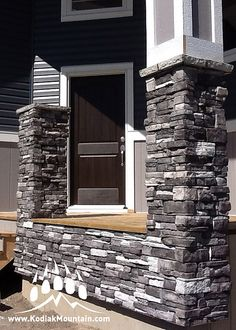 Order Kodiak Mountain Stone Manufactured Stone Veneer - Ready Stack Stone Panels Collection Glacier Ready Stack Corners, delivered right to your door.