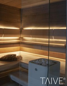 TAIVE sauna product line provides complete solutions for sauna interiors. It´s smooth, elegant design creates a harmonious atmosphere in your sauna as well as other interiors in your spa. In addition, thoughtfully designed Cariitti lighting solutions emphasize the surfaces and shapes of the materials. TAIVE interior is a timeless, long-lasting design solution that will create unforgettable sauna experiences for you and your guests. Sauna Lights, Finnish Sauna, Lighting Solutions, Blinds, Bathroom, Architecture, Saunas, Laundry, Smooth