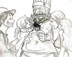 One Piece, Zeff, Sanji, Luffy, Nami