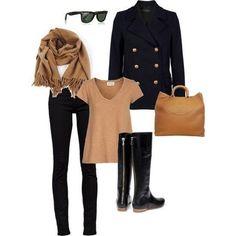 Look casual - beige y negro