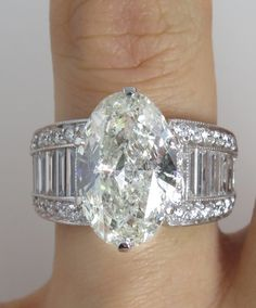 Reserved.... Huge 6.17ct Estate Vintage Oval Cut Diamond Engagement Wedding Ring Plat EGL USA, See VIDEO!