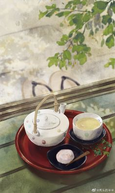 Acid Wallpaper, Wallpaper Backgrounds, Wallpapers, Chinese Christmas, Anime Places, Tea And Books, China Art, Food Drawing, Anime Scenery