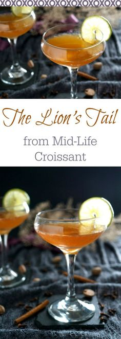The Lion's Tail: A bourbon based cocktail with the warmth of allspice and the brightness of lime. Great for Valentine's Day.