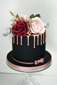 Beautiful Birthday Cakes, Beautiful Cakes, Amazing Cakes, Elegant Birthday Cakes, Elegant Cakes, Cake Designs For Birthday, Designer Birthday Cakes, Elegant Cake Design, Pretty Cakes