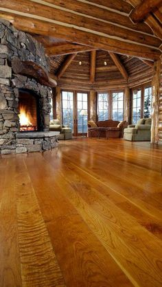 Wide planks........fireplace...........