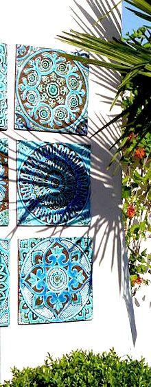 Mandala garden tile, home decor idea #affiliate #outdoor #boho #backyard #decoration #ideas