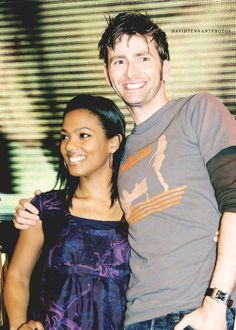 Freema Agyeman and David Tennant (who played the Martha Jones & the Tenth Doctor on Doctor Who).