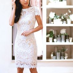 Corded lace by @tadashishoji - pretty for rehearsal dinner, reception or cocktail part... | Use Instagram online! Websta is the Best Instagram Web Viewer!