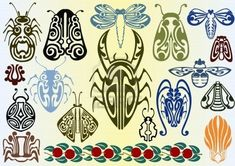 art nouveau butterfly   Insects like Butterflies and Dragon flies were greatly used. (when the ...