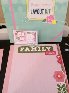 Scrapbooking layout kits mean most of the design work is already done!  These pages go together so FAST!  Details at link.
