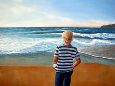 Autor: José Marques - Óleo s/ tela com 80X60 - Com moldura - Título: Olhando o Mar.